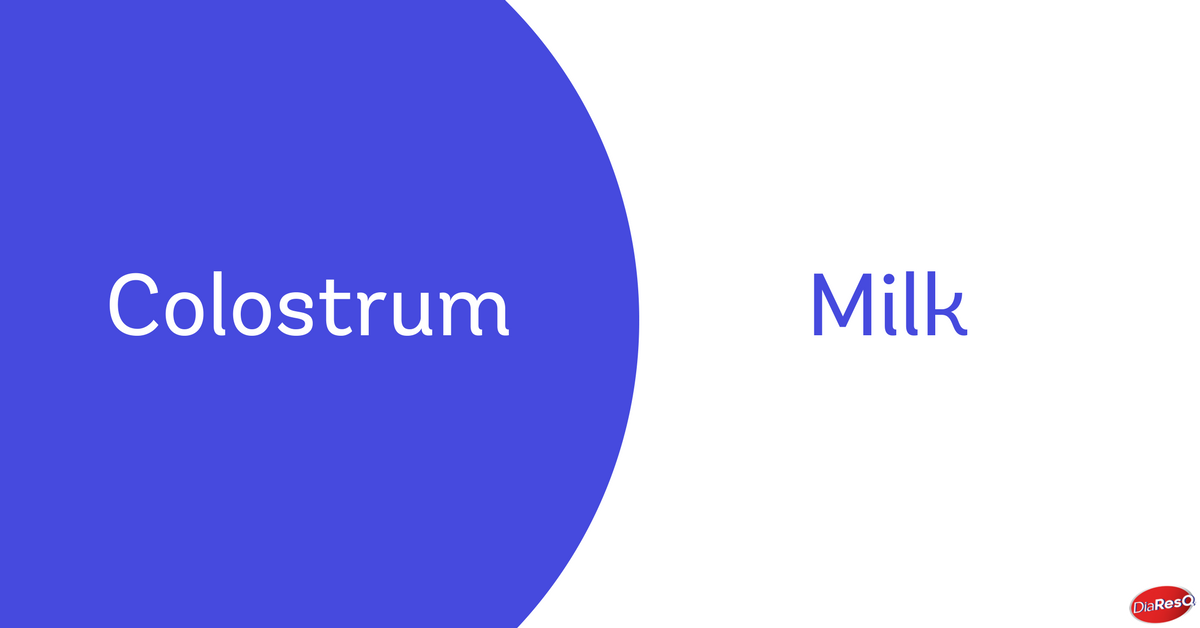 colostrum vs. milk