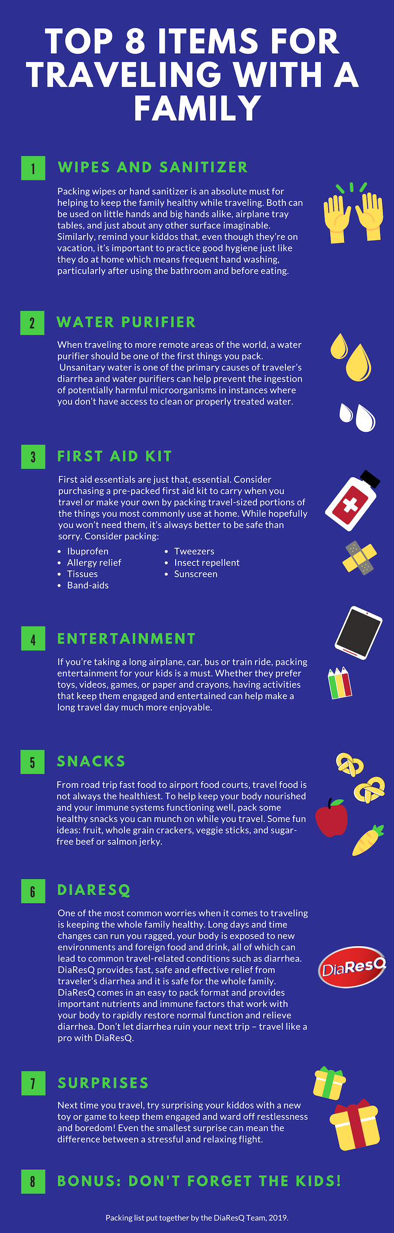 Infographic: Tips for Traveling with Kids from DiaResQ