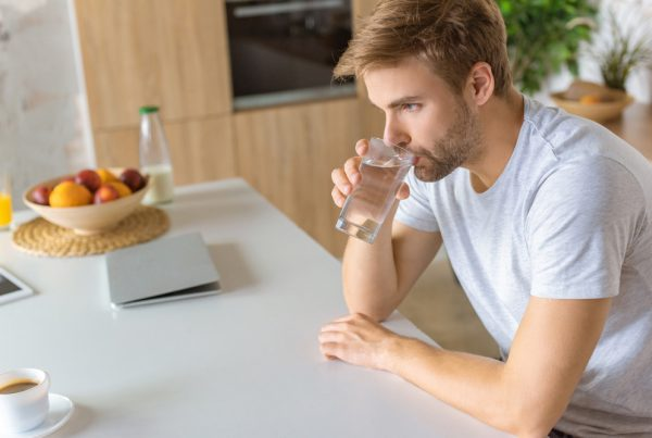 drinks water to avoid diarrhea while on antibiotics